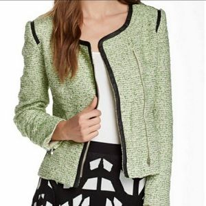 Romeo & Juliet Couture Green Tweed Jacket Medium